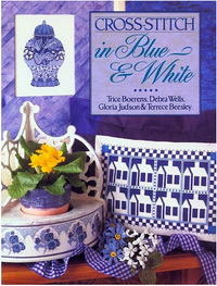 Cross Stitch in Blue and White