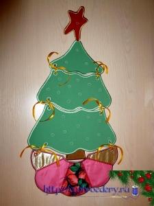 Мк вышиваем новогоднюю ёлку