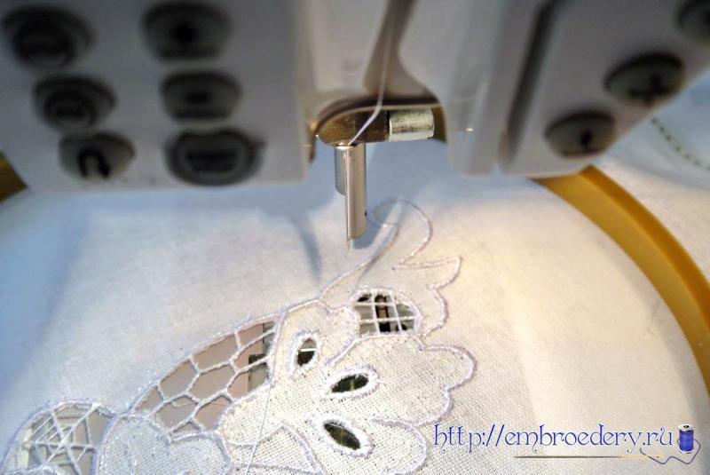 Вышивка машинная свободно-ходовая