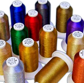 Нитка металлизированная для машинной вышивки