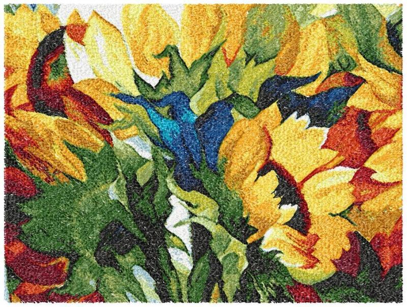 Смешение цветов в вышивке