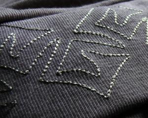 Машинная вышивка по трикотажу