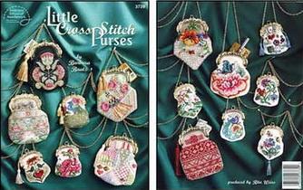 Схемы вышивки дамских сумочек - кошельков.