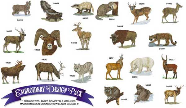 AD1143 Northwest Wildlife Collection, Amazing Designs