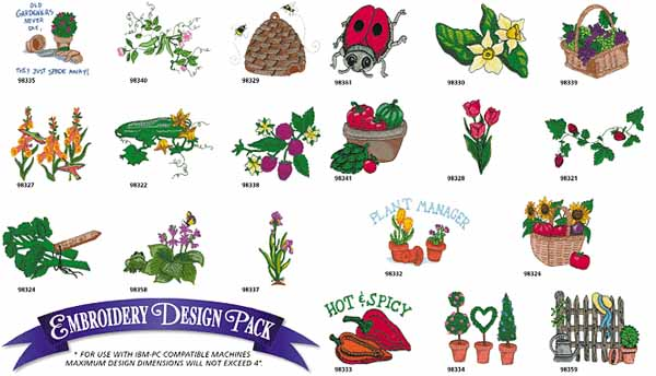 AD1176 Gardening Collection, Amazing Designs