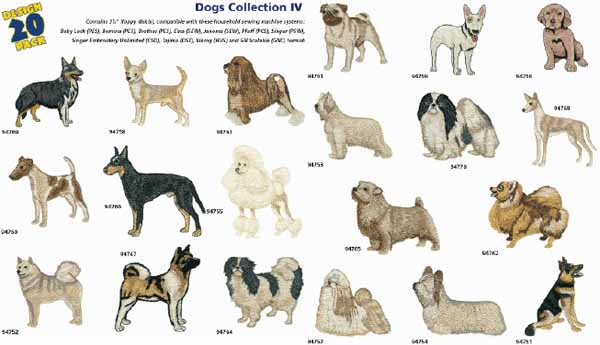 AD1220 Dogs Collection IV, Amazing Designs