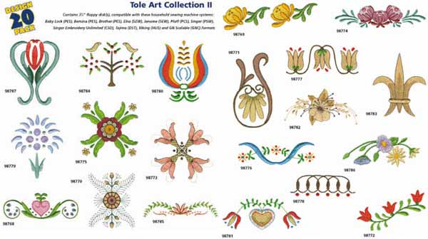 AD1226 Tole Art Collection II, Amazing Designs