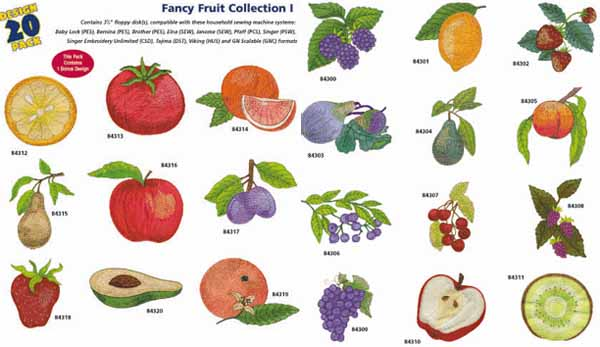 AD1228 Fancy Fruit Collection I, Amazing Designs