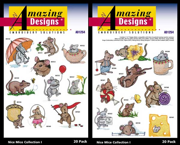 AD1254 Nice Mice Collection I, Amazing Designs