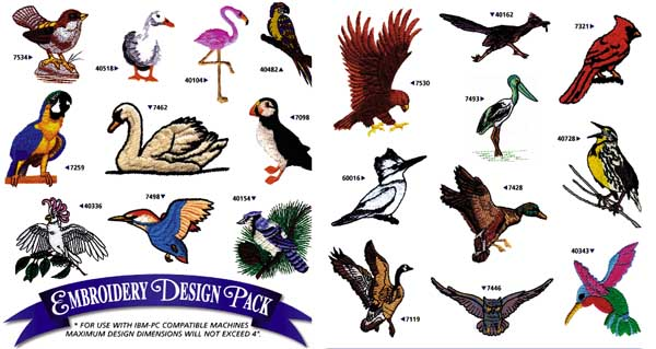 AD1025 Birds, Amazing Designs