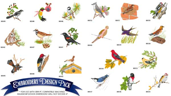 AD1086 Birds Collection, Amazing Designs