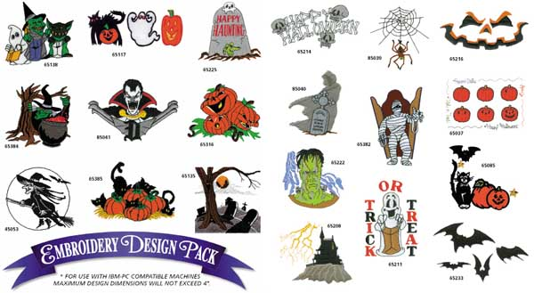 AD1092 Halloween Collection, Amazing Designs