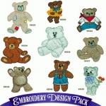 Подборка вышивок мишек Тедди ( Teddy Bears ) 2