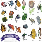AD1125 Tropical Fish Collection, Amazing Designs