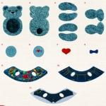Изготовление вышитых мягких игрушек Husqvarna -152 - Mr Teddy