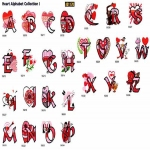 D1170 Heart Alphabet Collection, Amazing Designs