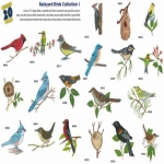 AD1234 Backyard Birds Collection I, Amazing Designs