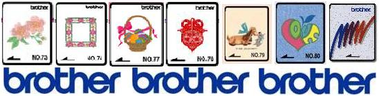 Brother Embroidery Cards from