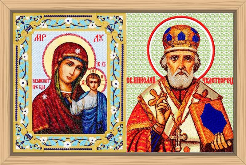 икона Казанской Божьей матери, образ Николая Чудотворца