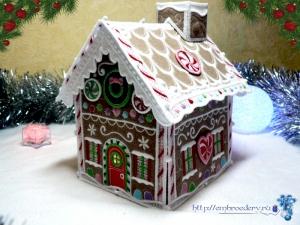 вышивки, новогодний, пряничный домик