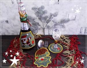 Новогодний совместный процесс вышивки - Украшение для новогоднего стола