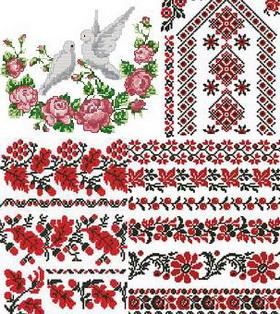 Схемы вышивки украинские узоры.