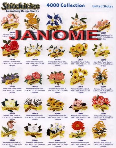 Janome 4000 Catalog Book