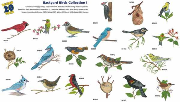 AD1234 Backyard Birds Collection I, Amazing Designs