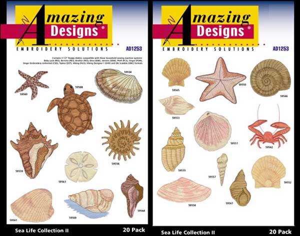 AD1253 Sea Life Collection II, Amazing Designs