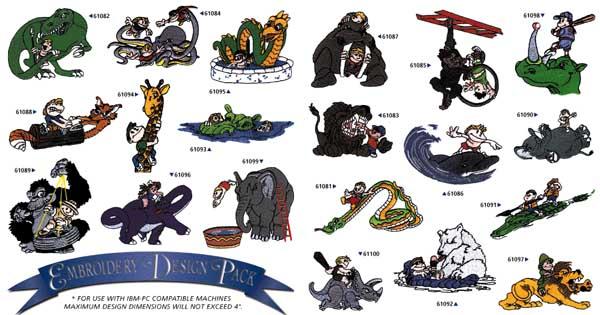 AD1030 Childrens Cartoon Collection, Amazing Designs