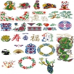 Коллекция Brother Embroidery Card 56 Asian Designs