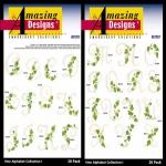 AD1257 Vine Alphabet Collection I, Amazing Designs